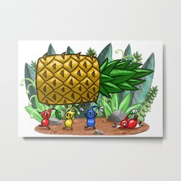 Pineapple Pikmin Metal Print