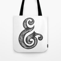 ampersand Tote Bags featuring Ampersand by Norman Duenas