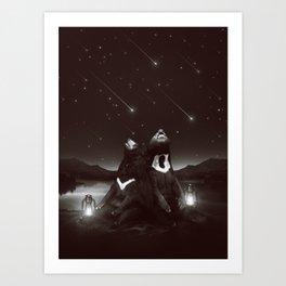 my sun, my moon, and all my stars Art Print