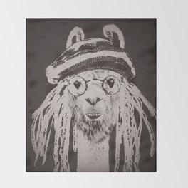 Funky Llama Throw Blanket