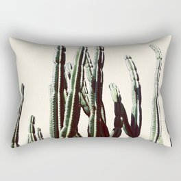 Green Cactus 9 Summer Rectangular Pillow
