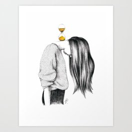 Weight of Time Art Print