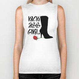 Kick Ass Girl Stiletto Boots Rose Grace Strength Biker Tank