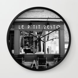 Le P'tit Resto  //  France - travel photography Wall Clock