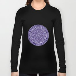 Great Purple Mandala Long Sleeve T-shirt