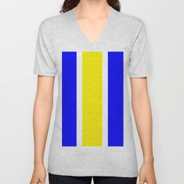 TEAM COLORS 10...YELLOW,BLUE Unisex V-Neck