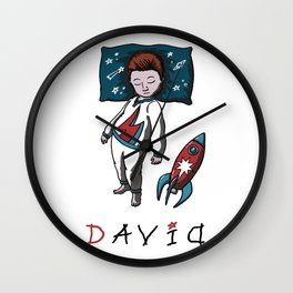 Sleeping artist DAVID Wall Clock