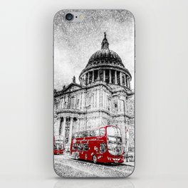 St Paul's Cathedral London Snow iPhone Skin