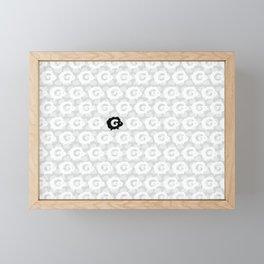 Black Sheep Pattern Framed Mini Art Print