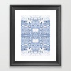 Blue Inhabited Plain Framed Art Print
