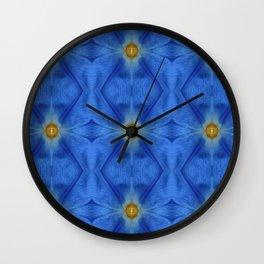 Divine Diamond Morning Glory Blues Wall Clock