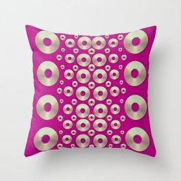 Going gold or metal on fern pop art Throw Pillow