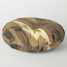 Santa Maria De Bardi 1870 By Telemaco Signorini | Reproduction | Italian Painter Floor Pillow