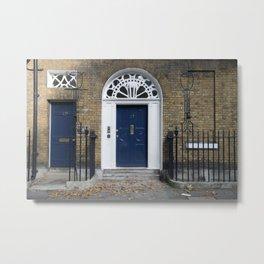 Navy Door Metal Print