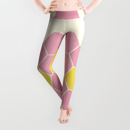 Pink Honeycomb Leggings