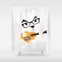 animal crossing Shower Curtains featuring Animal Crossing KK Slider by mimibun