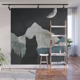Black Cat 2 Wall Mural
