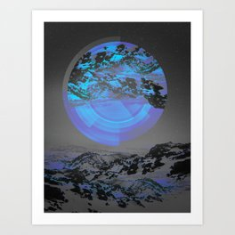 Neither Up Nor Down Art Print