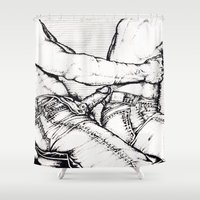 levi Shower Curtains featuring Levi Lovin' by vooduude