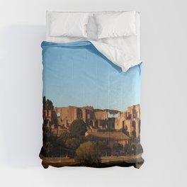 Roman ruin in Rome photography Comforters