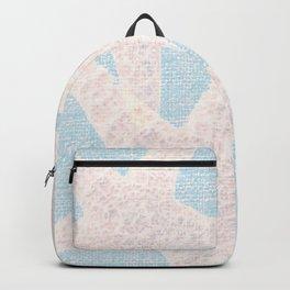 Starfish & Blue Burlap Backpack