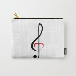 Heart music clef Carry-All Pouch