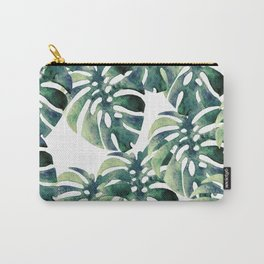 Monstera Pattern Carry-All Pouch