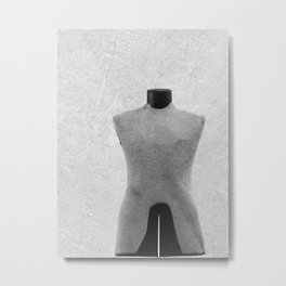 Vintage Dress Form in Black and White Metal Print