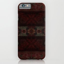 Redwood & Seal Brown Striped Decor iPhone Case