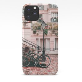 Bike in a Lovely Town Pink City Photography  iPhone Case