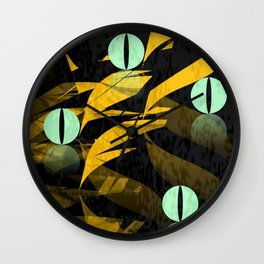 A glance from the darkness Wall Clock