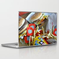 junk food Laptop & iPad Skins featuring Junk Food by Renatta Maniski-Luke
