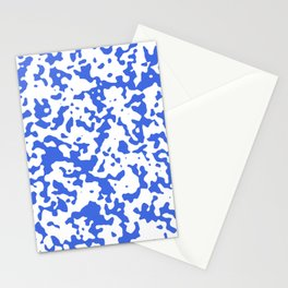 Spots - White and Royal Blue Stationery Cards