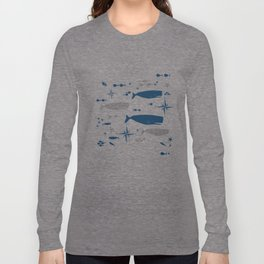 Sperm Whale #nautical #homedecor #coastal #whale Long Sleeve T-shirt