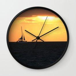 Sunset Sail Wall Clock