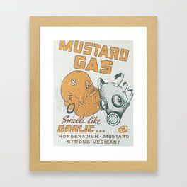 Vintage poster - Mustard Gas Framed Art Print