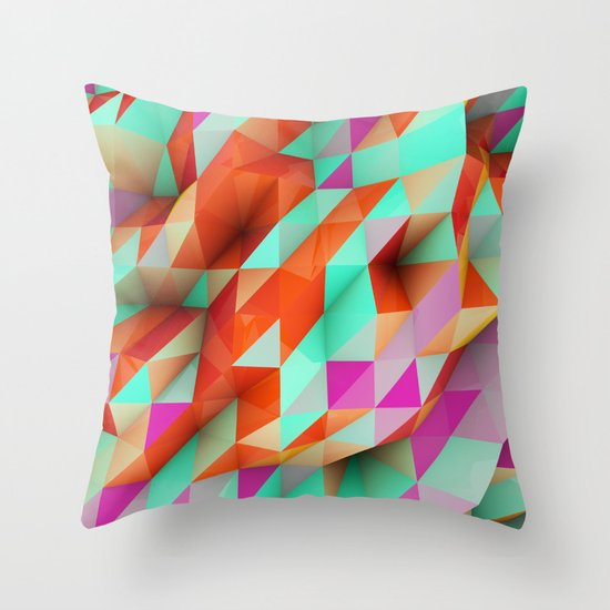 Polygons Sphere Abstract Throw Pillow