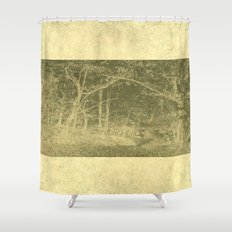 There is unrest in the forest Shower Curtain