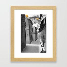 Lanes of Punjab Framed Art Print
