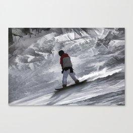 "Snowboarder ""just cruisin'"" Winter Sports Gift Canvas Print"