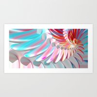 angel wings Art Prints featuring Angel Wings by ArtPrints