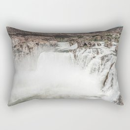 Vintage Falls // Grainy Dull Tone Natural Beauty Landscape Photography Rectangular Pillow