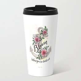 Bloom Where You're Anchored Travel Mug