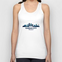kansas city Tank Tops featuring KANSAS CITY HOME by Random Acts of Design
