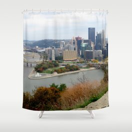 Downtown Pittsburgh in the Fall 23 Shower Curtain