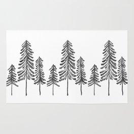 Pine Trees – Black Ink Rug