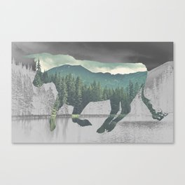 Bull in the Mountains Canvas Print