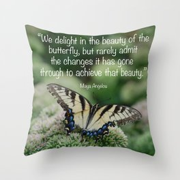 We delight in the beauty of the butterfly.... Throw Pillow