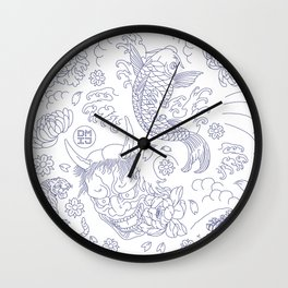 Japanese Tattoo Wall Clock