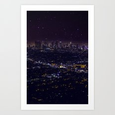 Stars Over Los Angeles II Art Print